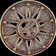 Marked sterling silver Egyptian Revival brooch of Queen Nefertiti
