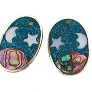 Marked Mexico clip on Earrings in a celestial design