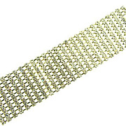 Vintage 11 rows of crystal rhinestone cuff Bracelet