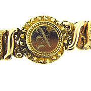 1940's Sweetheart Expansion Bracelet with initial N