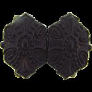 Bog Oak belt buckle in a shield design