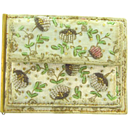 Chunn Paris France 1940's beaded billfold/coin purse