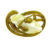 1920's Art Nouveau scatter pin with Mother of Pearl piece