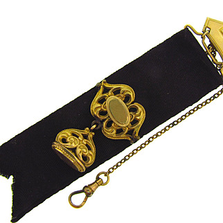 Victorian Waist Fob complete with short chain and clasp signed A.C. co.