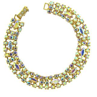Vintage petite 1960's AB rhinestone Bracelet
