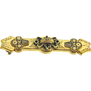 Taille d'epergne Edwardian gold filled bar pin