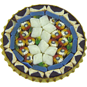 Mosaic scatter pin in a floral design