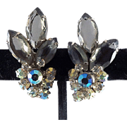 D&E Juliana Silvertone Clip on Earrings