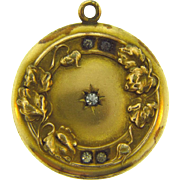 Signed H&H gold filled early Locket