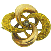 Edwardian lovers knot gold filled Scatter Pin