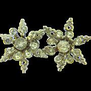Vintage snowflake rhinestone Scatter Pins