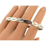 Mexican silver Bangle Bracelet in a braided design