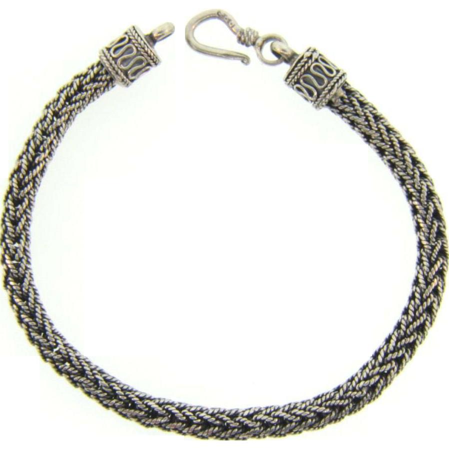 925 Silver Bracelet: Marked 925 Sterling Silver Bracelet In A Flexible Cable