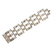 Marked 800 silver cannetille wide open link Bracelet