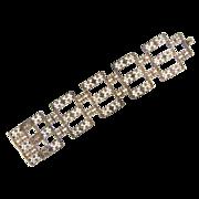 Marked 800 silver cannetille wide open link Bracelet