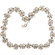 Georgeous heavy choker length link Necklace with all crystal rhinestones