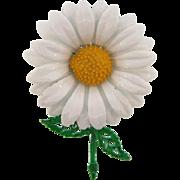 1960's enamel daisy Brooch