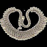 Signed Kramer of New York gorgeous vintage crystal rhinestone choker Necklace