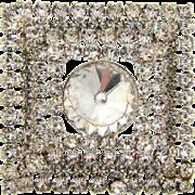 Vintage 1960's  layered Brooch in all crystal rhinestones