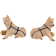 Cute Huskie Dog cuff links