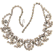 Vintage all crystal rhinestone choker Necklace