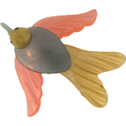 Vintage early plastic bird Brooch