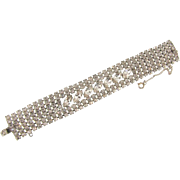 Signed Weiss 6 row crystal rhinestone Bracelet