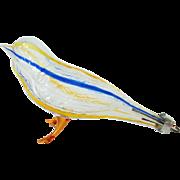 Antique c.1900 Blown Glass Bird Ornament