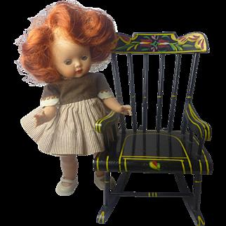 Ginny/MA size Pennsylvania Dutch Rocking Chair 1950s Lancaster, Pa.
