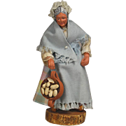 Vintage French Santon Creche Doll - Lady with Pot Beans!  Provence, France