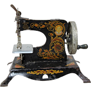 Vintage 1930s Little Miss Metal Litho Toy Sewing Machine!