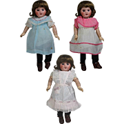Three 1930s Factory Cabinet Sized Doll Clothes - Fit Bleuette!
