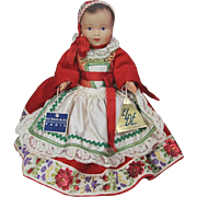 Vintage c1940s French Brittany Baby Celluloid Doll Bretagne w Au Nain Bleu Tag! - Red Tag Sale Item