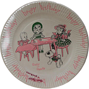 Fantastic!  Vintage 1950s Vogue Ginny Doll Birthday Plates in Orig Package!