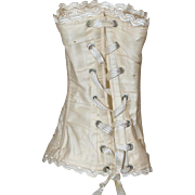 Lovely Antique French Cream Doll Corset!