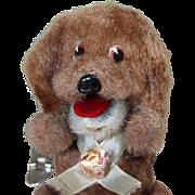 Vintage Japan Wind Up Dog VICTOR w Orig Tag!