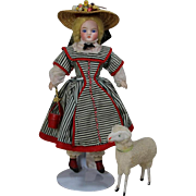 Antique German Putz Sheep - Perfect Doll Size!