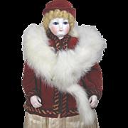 Beautiful Vintage Doll Rabbit Fur Stole!