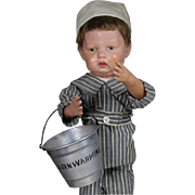 Vintage 1928 Doll Sized Sand Pail Bucket!
