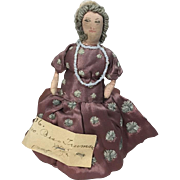 1945 Cloth Doll President Wife First Lady Bess Truman Kimport Era