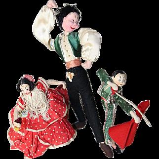 Vintage 3 Klumpe Roldan Cloth Dolls from Spain!