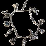 Vintage Sterling Silver Charm Bracelet w Charms - Southwest Theme