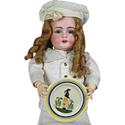 Vintage French Doll Sized Brittany France Henriot Quimper Plate!