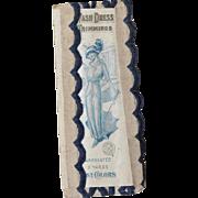 Antique German Unused Sewing Trim in Orig Pack - Beautiful Lady Image!