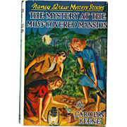 Nancy Drew - The Mystery at the Moss-Covered Mansion - HB w Dustjacket Book!