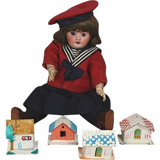 4 Darling Miniature Doll Sized Christmas Houses!