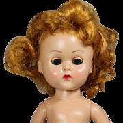 Vintage 1950s Redhead Vogue Ginny Doll Bent Knee Walker!