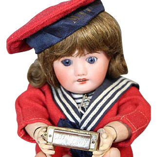 Darling Vintage Mini Doll Sized LITTLE LADY Germany Harmonica!
