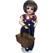 Darling Early Vintage French Doll Basket!