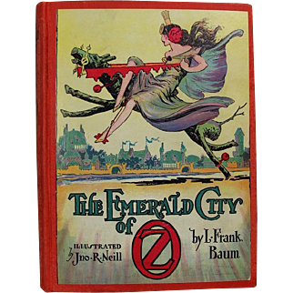 "Beautiful c1910 (1930s ed) ""The Emerald City of Oz"" by L. Frank Baum - Illustrated Hardback Book - Wizard of Oz"
